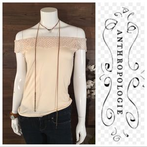 Cross Stitch Heart Off the Shoulder Blouse
